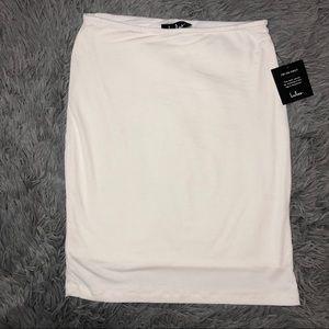 Lulus | Bodycon White Skirt Size Medium